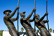 The Tuna Memorial on Shelter Island, San Diego, a tribute to the hardy tuna fishermen who lost their lives at sea