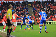 Adam Chambers, Donal McDermott during the Sky Bet League 1 match between Walsall and Rochdale at the Banks's Stadium, Walsall, England on 2 January 2016. Photo by Daniel Youngs.