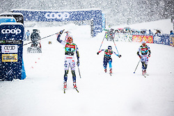 Linn Svahn (SWE) finishing 1st  Ladies team sprint race at FIS Cross Country World Cup Planica 2019, on December 22, 2019 at Planica, Slovenia. Photo By Peter Podobnik / Sportida