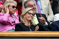 Sophie the Countess of Wessex in the royal box of centre court on day ten of the Wimbledon Championships at The All England Lawn Tennis and Croquet Club, Wimbledon.