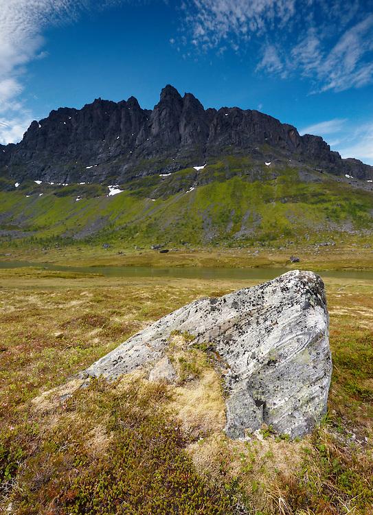 Norway - Rocks in Langfjord glacier valley