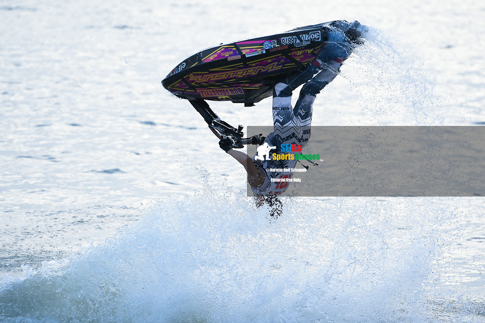PATTAYA, THAILAND - DECEMBER 09: Kazuaki Sakaida of Japan and Bun Freestyle in action during the Pro Freestyle at the Thai Airways International Jet Ski World Cup 2018, Jomtien Beach, Pattaya, Thailand on December 09, 2018. <br /> .<br /> .<br /> .<br /> (Photo by: Naratip Golf Srisupab/SEALs Sports Images)<br /> .<br /> Any image use must include a mandatory credit line adjacent to the content which should read: Naratip Golf Srisupab/SEALs Sports Images