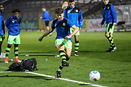 Forest Green Rovers Jordan Stevens(8) warming up during the The FA Youth Cup match between Bristol Rovers and Forest Green Rovers at the Memorial Stadium, Bristol, England on 2 November 2017. Photo by Shane Healey.