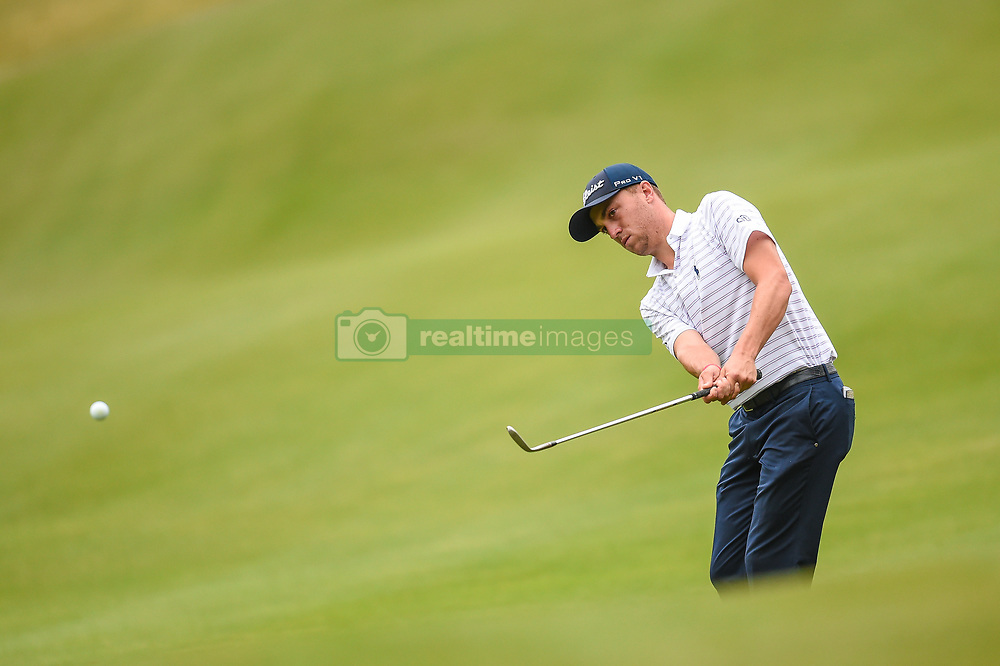 March 25, 2018 - Austin, TX, U.S. - AUSTIN, TX - MARCH 25: Justin Thomas chips during the semifinals match of the WGC-Dell Technologies Match Play on March 25, 2018 at Austin Country Club in Austin, TX. (Photo by Daniel Dunn/Icon Sportswire) (Credit Image: © Daniel Dunn/Icon SMI via ZUMA Press)