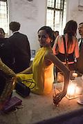 HANNAH BHUIYA, Italian Vanity Fair's 10 Anniversary celebration  hosted by Luca Dini. . Fondazione Cini, Isola di San Giorgio. Venezia.  1 September 2013