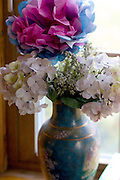 Vase with artificial flowers.  St Paul Minnesota USA