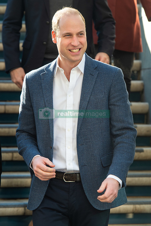 The Duke of Cambridge arrives at Pall Mall Barbers in Paddington, west London, where he will meet members of the Lion Barbers Collective, who are raising awareness of suicide prevention through a programme called BarbersTalk. Picture date: Thursday February 14th, 2019. Photo credit should read: Matt Crossick/ EMPICS Entertainment.