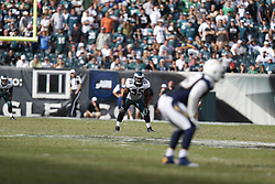 Philadelphia Eagles linebacker Brandon Graham #55 stands in the ready position on special teams during the NFL game between the San Diego Chargers and the Philadelphia Eagles in Philadelphia. The Chargers won 33-30. (Photo by Brian Garfinkel)