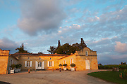 at sunset chateau trottevieille saint emilion bordeaux france