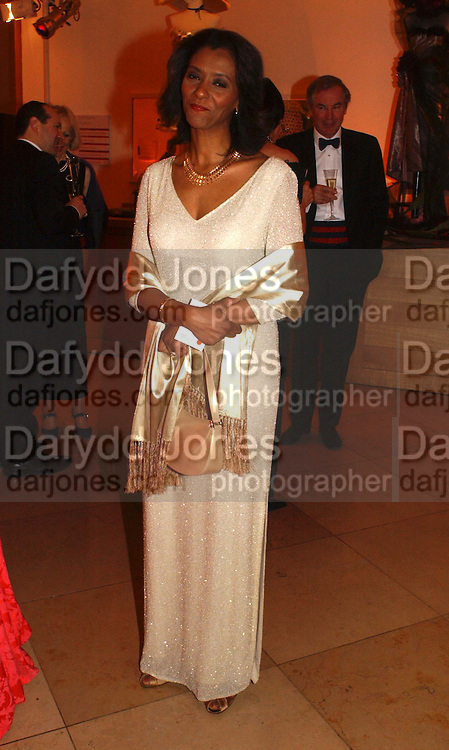 Zeinab Badawi, National Portrait Gallery  150th Anniversary Fundraising Gala. National Portrait Gallery. London. 28 February 2006. ONE TIME USE ONLY - DO NOT ARCHIVE  © Copyright Photograph by Dafydd Jones 66 Stockwell Park Rd. London SW9 0DA Tel 020 7733 0108 www.dafjones.com