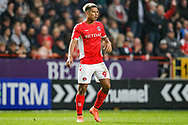 Charlton Athletic forward Lyle Taylor (9) during the EFL Sky Bet League 1 second leg Play-Off match between Charlton Athletic and Doncaster Rovers at The Valley, London, England on 17 May 2019.