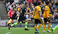 Football - 2018 / 2019 Premier League - Wolverhampton Wanderers vs. Manchester City<br /> <br /> Aymeric Laporte of Manchester City celebrates scoring at Molineux.<br /> <br /> COLORSPORT/LYNNE CAMERON