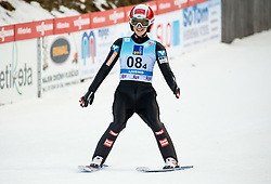 Eva Pinkelnig of Austria reacts during Team Competition at Day 2 of World Cup Ski Jumping Ladies Ljubno 2019, on February 9, 2019 in Ljubno ob Savinji, Slovenia. Photo by Matic Ritonja / Sportida