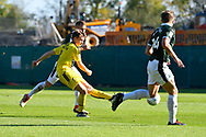 Jake Hesketh (8) of Burton Albion shoots at goal during the EFL Sky Bet League 1 match between Plymouth Argyle and Burton Albion at Home Park, Plymouth, England on 20 October 2018.
