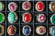 Jakarta.<br /> Gem stone rings are very popular in Jakarta.<br /> The city of Jakarta is the capital city of Indonesia and has about 10 million residents.