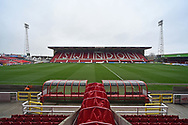The County Ground before the EFL Sky Bet League 2 match between Swindon Town and Yeovil Town at the County Ground, Swindon, England on 10 April 2018. Picture by Graham Hunt.