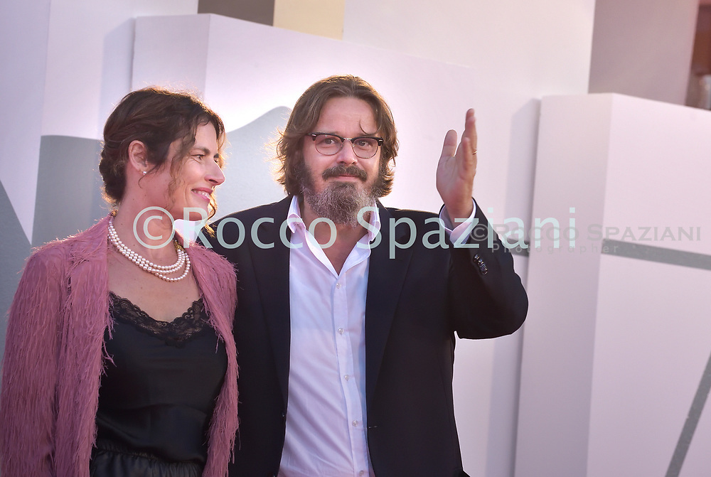 """VENICE, ITALY - SEPTEMBER 09:Giuseppe Battistonthe red carpet ahead of the movie """"Le Sorelle Macaluso"""" at the 77th Venice Film Festival on September 09, 2020 in Venice, Italy.<br /> (Photo by Rocco Spaziani)"""