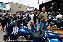 Indian Motorcycles bike display on Main Street during Daytona Bike Week, FL. USA. Sunday March 11, 2018. Photography ©2018 Michael Lichter.