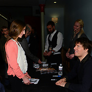 Joshua Bell meets with fans after he and Sam Haywood perform at The Music Hall in Portsmouth, NH on March 1, 2013.
