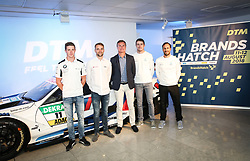 (Left-right) Joel Ericsson, Jamie Green, David Coulthard, Paul Di Resta, Gary Paffett during the DTM press activity and reception at the Hospital Club, London. PRESS ASSOCIATION Photo. Picture date: Wednesday July 18. 2017. Former F1 driver and Channel 4 commentator David Coulthard is celebrating the return of the prestigious DTM race series to the UK after a 5-year absence. Racing for the first time on the full Grand Prix circuit, the DTM championship will see touring cars from Audi, BMW and Mercedes-AMG pitted against one another on the twists and turns of the iconic Brands Hatch track on 11-12 August. Photo credit should read: Matt Alexander/PA Wire.