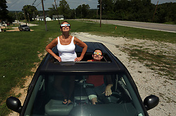 """""""I am surprised there are not more people here,"""" said Rick Wiese of Pevely, who found a spot off Highway 61 to watch the eclipse with his wife Donna on Monday, Aug. 21, 2017 in Herculaneum, Mo. Herculaneum was in the path of totality for approximately 2 minutes and 32 seconds. Photo by Laurie Skrivan/St. Louis Post-Dispatch/TNS/ABACAPRESS.COM"""