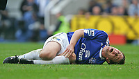 Photo: Andrew Unwin.<br /> Newcastle United v Everton. The Barclays Premiership. 24/09/2006.<br /> Everton's Gary Naysmith cries out in pain.