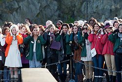 .The Miss World participants visit Edinburgh Castle and will witness the firing of the One O'clock gun..MISS WORLD 2011 VISITS SCOTLAND..Pic © Michael Schofield.