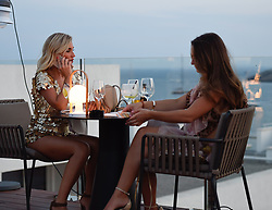 EXCLUSIVE: Billie Faiers and her hen do guests are seen heading out for a night out in Ibiza. Included in her hen party is sister Sam Faiers and fellow TOWIE star Ferne McCann. 23 Aug 2018 Pictured: Billie Faiers, Sam Faiers and Ferne McCann. Photo credit: MEGA TheMegaAgency.com +1 888 505 6342