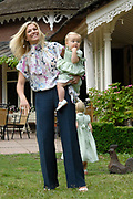Photocall of the dutch Royal Family.<br /> On the photo: princess Máxima and princess Ariane.<br /> <br /> Fotosessie op Landgoed de Horsten in Wassenaar <br /> Op de foto: Prinses Máxima en  Prinses Ariane .