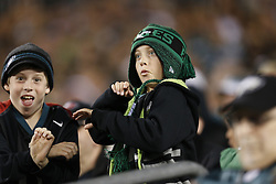 A young Philadelphia Eagles fan dances in the stands during the NFL game between the Dallas Cowboys and the Philadelphia Eagles on Sunday, November 11th 2012 in Philadelphia. The Cowboys won 38-23. (Photo by Brian Garfinkel)