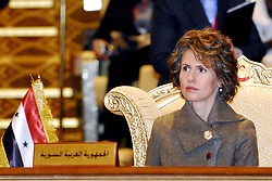 File photo - First ladies of Arab states, Syria's Asma Al Assad seen before the 2nd Arab Women's Conference in Abu Dhabi, United Arab Emirates, on November 11, 2008. Syria's British-born first lady Asma Assad has begun treatment for breast cancer. The Syrian presidency posted on its Facebook page a photo of President Bashar Assad sitting next to his wife in a hospital room. Photo by Balkis Press/ABACAPRESS.COM