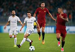 Chelsea's Cesc Fabregas (left) and Cesar Azpilicueta (second left)