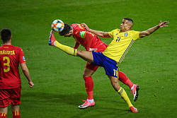 March 23, 2019 - Stockholm, SWEDEN - 190323 Robin Quaison of Sweden during the UEFA Euro Qualifier football match between Sweden and Romania on March 23, 2019 in Stockholm  (Credit Image: © Simon HastegÃ…Rd/Bildbyran via ZUMA Press)