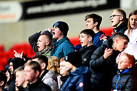 Fleetwood Town fans show their support<br /> <br /> Photographer Richard Martin-Roberts/CameraSport<br /> <br /> The EFL Sky Bet League One - Bolton Wanderers v Fleetwood Town - Saturday 2nd November 2019 - University of Bolton Stadium - Bolton<br /> <br /> World Copyright © 2019 CameraSport. All rights reserved. 43 Linden Ave. Countesthorpe. Leicester. England. LE8 5PG - Tel: +44 (0) 116 277 4147 - admin@camerasport.com - www.camerasport.com