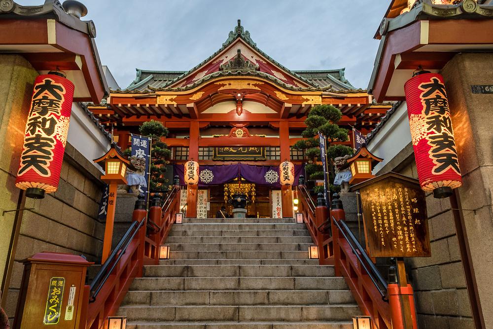 Japanese temple taken at dusk.