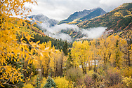 Autumn scenery along the Crystal River near the town of Crystal, Colorado.