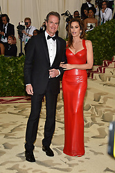 Cindy Crawford and Rande Gerber attending the Costume Institute Benefit at The Metropolitan Museum of Art celebrating the opening of Heavenly Bodies: Fashion and the Catholic Imagination. The Metropolitan Museum of Art, New York City, New York, May 7, 2018. Photo by Lionel Hahn/ABACAPRESS.COM