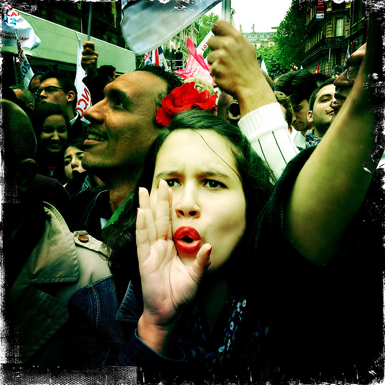 Paris, France. Maiy 6th 2012.Francois Hollande wins the presidential elections