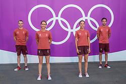 Team Switzerland, Goddel Robin, Johner Melody, Bodenmuller Eveline, Vogg Felex<br /> Olympic Games Tokyo 2021<br /> © Hippo Foto - Dirk Caremans<br /> 25/07/2021