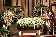 Dr. Barbara Ann Teers' casket at the Celebration of the Life and Legacy of Dr. Barabara Ann Teer at the Memorial Service held at The Riverside Drive in Harlem, NY on Monday, July 28, 2008
