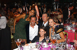 Left to right, JOEL & DIVIA CADBURY, LADY FRANCIS RUSSELL, HUGH ROBERTS and COUNTESS MAYA VON SCHONBURG at the party Belle Epoque hosted by The Royal Parks Foundation and Champagne Perrier Jouet held at the Lido Lawns of the Serpentine, Hyde Park, London on 14th September 2006.<br />