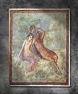 Roman Nero Period fresco wall painting of Perseus and Andromeda, Naples National Archaeological Museum, from a house in the Insula Occidentalis at Pompeii , inv 9058.  Wall art print by Photographer Paul E Williams If you prefer visit our World Gallery Print Shop To buy a selection of our prints and framed prints desptached  with a 30-day money-back guarantee and is dispatched from 16 high quality photo art printers based around the world. ( not all photos in this archive are available in this shop) https://funkystock.photoshelter.com/p/world-print-gallery .<br /> <br /> USEFUL LINKS:<br /> Visit our other HISTORIC AND ANCIENT ART COLLECTIONS for more photos to buy as wall art prints  https://funkystock.photoshelter.com/gallery-collection/Ancient-Historic-Art-Photo-Wall-Art-Prints-by-Photographer-Paul-E-Williams/C00002uapXzaCx7Y