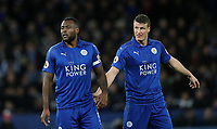 Football - 2016 / 2017 Premier League - Leicester City vs. Liverpool<br /> <br /> Wes Morgan and Robert Huth of Leicester City  during the match at The King Power Stadium.<br /> <br /> COLORSPORT/LYNNE CAMERON