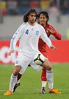 Fotball<br /> Portugal v Hellas<br /> Foto: Witters/Digitalsport<br /> NORWAY ONLY<br /> <br /> 26.03.2008<br /> <br /> v.l. Georgios Samaras, Bruno Alves Portugal<br /> Freundschaftsspiel Griechenland - Portugal 2:1