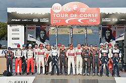 April 6, 2017 - Ajaccio, France - Les pilotes et copilotes du WRC (Credit Image: © Panoramic via ZUMA Press)