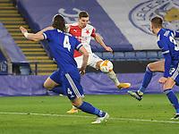 Football - 2020 / 2021 Europa League - Round of 32 - Second Leg - Leicester City vs Slavia Prague - King Power Stadium<br /> <br /> Slavia Prague's Lukas Provod scores the opening goal .<br /> <br /> COLORSPORT/ASHLEY WESTERN