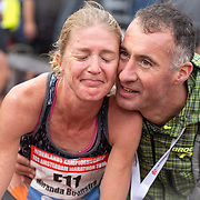 20-10-2019: Atletiek: TCS Amsterdam Marathon: Amsterdam  Miranda Boonstra, finish Olympisch stadion