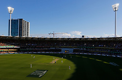 General view during day two of the Ashes Test match at The Gabba, Brisbane.
