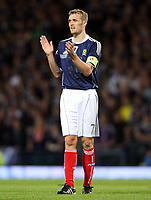 Football - UEFA Euro 2012 Qualifier - Scotland v Liechtenstein<br /> <br /> Scotland's captain Darren Fletcher during the Scotland v Liechtenstein UEFA Euro 2012 Qualifier, Hampden Park