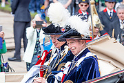 """Koning Willem Alexander wordt door Hare Majesteit Koningin Elizabeth II geïnstalleerd in de 'Most Noble Order of the Garter'. Tijdens een jaarlijkse ceremonie in St. Georgekapel, Windsor Castle, wordt hij geïnstalleerd als 'Supernumerary Knight of the Garter'.<br /> <br /> King Willem Alexander is installed by Her Majesty Queen Elizabeth II in the """"Most Noble Order of the Garter"""". During an annual ceremony in St. George's Chapel, Windsor Castle, he is installed as """"Supernumerary Knight of the Garter"""".<br /> <br /> Op de foto / On the photo: The Duke of Kent"""